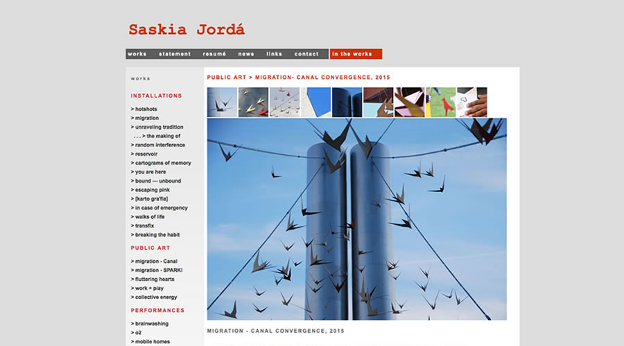 Saskia Jordà, from Venuzuela,. This site has rollovers that open a larger image below.